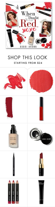 """""""When in doubt..."""" by lauren-a-j-reid ❤ liked on Polyvore featuring beauty, Burberry, Chanel, Kerr®, Bobbi Brown Cosmetics, Beauty, redlips and beautyset"""