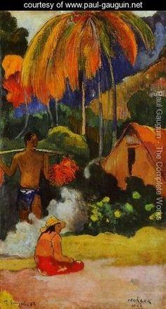 Mahana Maa II Aka The Moment Of Truth II - Paul Gauguin - www.paul-gauguin.net