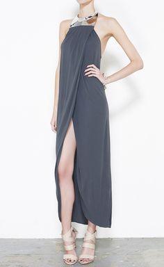 Michael Kors Black And Gunmetal Dress | VAUNTE