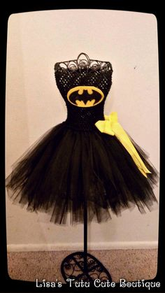 Batman tutu dress by LisasTutus on Etsy, $20.00