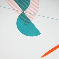Teal & Orange Two-Colour Geometric Bauhaus by thingsbyJD Unique Colors, 2 Colours, Teal Orange, Jet Ski, Bauhaus, Tango, Zine, A3, Screen Printing