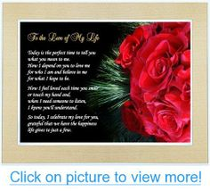 Gift for Wife, Husband, Girlfriend or Boyfriend - Love of My Life Poem in 5x7 Inch Gold Frame