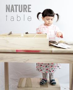 a nature table for lucy - alisaburke