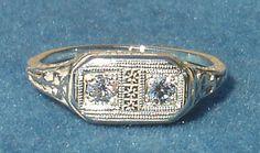 14 Karat White Gold Antique-Styled Diamond Ring. A Ben Salomonsky Design (BSJ-38). Buy NOW from Your Preferred e-Commerce Jeweler. www.SalomonskyJewelers.com
