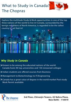 The Chopras is renowned nationwide and abroad for their experience and expert advises in the global education sector in Canada. Their expert consultants will help you understand more about Canada, best universities in Canada, and their scopes. #studyinCanada