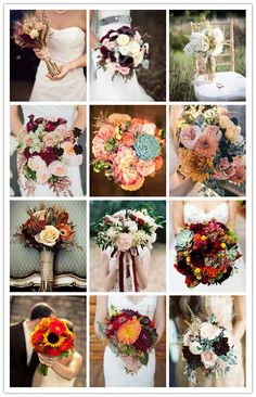 top 15 fall wedding bouquets for autumn brides