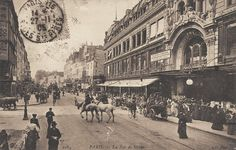 La rue de Sèvres vers 1900 et le Bon Marché