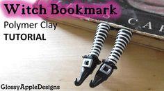 tutorial: miniature witch's feet bookmark