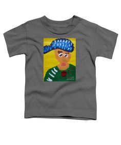 Patrick Francis Charcoal Designer Toddler T-Shirt featuring the painting Portrait Of Camille Roulin 2015 - After Vincent Van Gogh by Patrick Francis