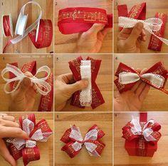 12 DIY Christmas Present Bow Tutorials