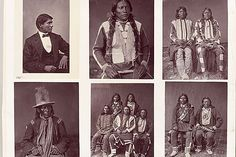 A typical album page, showing mixed clothing styles. These are Ute Indians from the Yampah, Muache, and Tareguache bands. Sequence Vol. Nebraska, Oklahoma, Sioux, South Dakota, Peabody Museum, Indian Costumes, Western Landscape, Indian Pictures, Rare Images