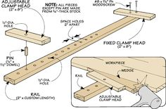 Woodworking Tip: Shop-Made Clamp