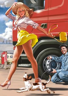 Pin-up in Soviet life, in advertising and simple . - Pin-up in Soviet life, in advertising and just in visual agitation photos) Pin Up Vintage, Vintage Art, Pinup Art, Mode Pin Up, Dibujos Pin Up, Up Auto, Serpieri, Pin Up Posters, Gil Elvgren
