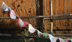 Felt Bird Garland. 8 feet long with satin hanging loops on either end. (Etsy: Tweet Toys by Willow Baus)