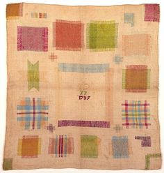 Dutch darning sample made in 1735 by a girl of about 12 / Cooper Hewitt, Smithsonian Design Museum