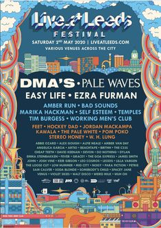 Over 40 artists join the line-up for Live at Leeds Mystery Jets, Fickle Friends, Live At Leeds, Leeds University, Pale Waves, Uk Festivals, Uk Music, Indie Pop