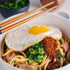 Captured-Chinese BBQ Pork & Egg Noodles - Marion's Kitchen