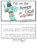 Armor of God file folder game (idea, the kids kinda creep me out!)