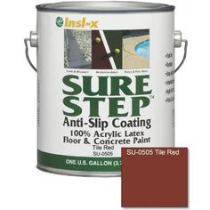 Sure Step 1 Gal. Tile Red Acrylic Anti Slip Concrete Paint