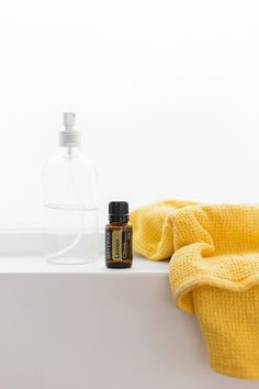 Put 3 drops of Lemon essential oil into an 8 oz spray bottle with water and you'll have a refreshing surface spray that gets the job done!