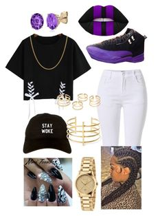 """""""#131~Ima Be Alright~DJ Khaled ft. Bryson Tiller and Future"""" by kitty900 ❤ liked on Polyvore featuring Lime Crime, Belk & Co., NIKE, BauXo, Gucci and Sterling Essentials"""