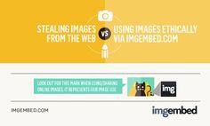 """Ciekawa infografika o  różnicach pomiędzy udostępnianiem zdjęć zgodnie z prawem i fotograficznym """"złodziejstwem"""". Zajrzyjcie i napiszcie, jak Wy udostępniacie - na przykład na Facebooku! www.visual.ly/stealing-images-online-vs-using-images-fairly"""