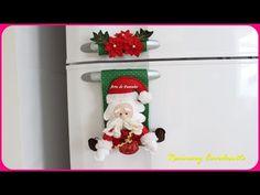 Coisas que Gosto: Enfeite Natalino , Papai Noel de Feltro