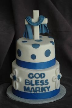 Communion Boy By mom262 on CakeCentral.com