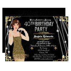 Flapper Girl Birthday Invitation Hens Party Invitations, Bachelorette Invitations, Bridal Shower Invitations, Custom Invitations, Birthday Invitations, Invitation Templates, Invitation Ideas, Business Invitation, Invitation Wording