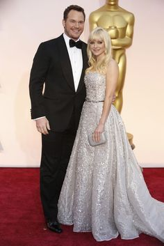 Chris Pratt and Anna Faris in Zuhair Murad at The Oscars 2015. Click to see more of our editors' favorite red carpet looks from the 87th Academy Awards. (Photo: Noel West for The New York Times)