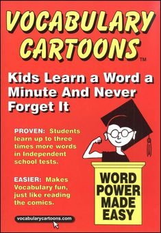 """Vocabulary Cartoons"" are one way to make learning new vocabulary words fun and memorable for students!"