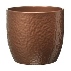 Boston Round Ceramic Brown Copper effect Plant pot - B&Q for all your home and garden supplies and advice on all the latest DIY trends Ceramic Plant Pots, Clay Pots, Copper Accessories, Concrete Projects, Garden Supplies, Artificial Plants, Plant Decor, Potted Plants, Decoration