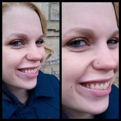 Look at this cutie sporting a freshly pierced nostril with a 14kt gold prong cz from NeoMetal ❤️