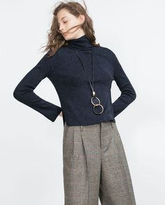 Image 2 of SWEATER WITH A ROLL-NECK COLLAR from Zara