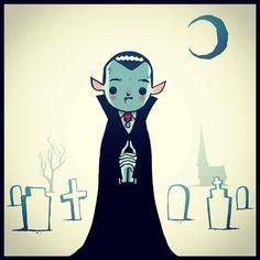 Vampire by Hammotime Vampire Kids, Vampire Love, Vampire Art, Vampire Dracula, Vampire Illustration, Halloween Illustration, Illustration Art, Halloween Art, Vintage Halloween