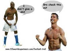 Ronaldo troll-funny football trolls Football Troll, Football Soccer, Soccer Ball, Funny Football, Meme Messi, Messi Funny, World Cup Winners, Fifa World Cup, Neymar