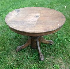 Antique Pedestal Table Claw Foot Round Table Paint to Order