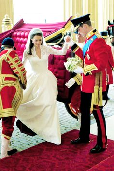 William and Catherine, The Duke and Duchess of Cambridge on their Wedding Day, April 29, 2011