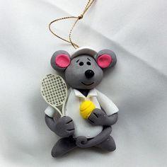 Ornament - Tennis Mouse