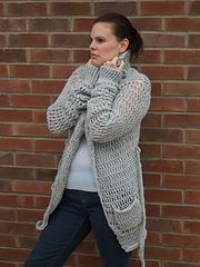 Ravelry: Ladies Baggy Cardigan pattern by HappyBerry... Free pattern!
