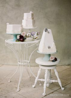 cake table and cake stands