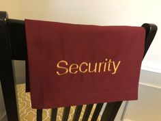 Reserved sash for security Pew sash for security, social distancing Pantone Color, Pew Markers, Reserved Seating, Reserved Signs, Gold Embroidery, Charcoal Color, Hanging Signs, Special Guest