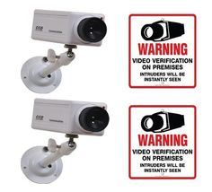 2 VAS #2607 Indoor Dummy Camera Blinking LED W (2) #207 Decal by VAS First Response. $30.95. Product Description: #2607 Now you can deter robbery, theft, and vandalism without the high cost of a real outdoor security camera. When placed outside your home or business, even the most sophisticated criminals will think the premises is guarded by a high-tech surveillance system and go in search of an easier target. In fact, this is an actual surveillance camera in outdo...