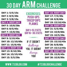 30 Day Arm Challenge 1000+ ideas about 30 day arms on pinterest 30 day arm ...