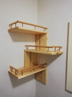 handmade corner self Corner Shelves, Wood Work, Loft, Woodworking, Handmade, Furniture, Home Decor, Hand Made, Decoration Home