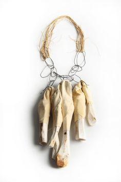 Hannah Joris - Objects & Jewelry - Explorations of bone, flesh and skin by Belgian artist Hannah Joris.
