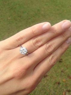 My fiancé is the greatest. I'm so in love with my ring!!