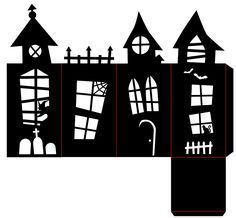Cut this fun SVG Haunted House Lantern on your Cricut or other cutting machine—perfectly spooky decor for your table or mantel! Cut this fun SVG Haunted House Lantern on your Cricut or other cutting machine—perfectly spooky decor for your table or mantel! Halloween Prop, Moldes Halloween, Casa Halloween, Theme Halloween, Halloween Haunted Houses, Halloween Birthday, Holidays Halloween, Halloween Crafts, Halloween Table
