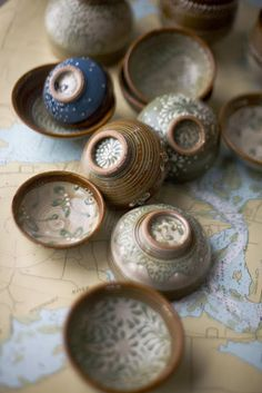 LIsa Howard of Local Pottery in Pembroke, MA. -Lovely:) I can never resist a beautiful handmade cup or bowl!