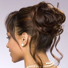 how to style updos for medium hair | ... Wedding Hairstyles : High Bun Updos | Updos for medium length hair